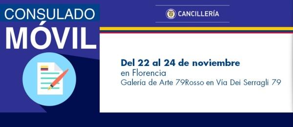 Configurar Consulado de Colombia en Roma realizará el Consulado Móvil en Florencia, Toscana